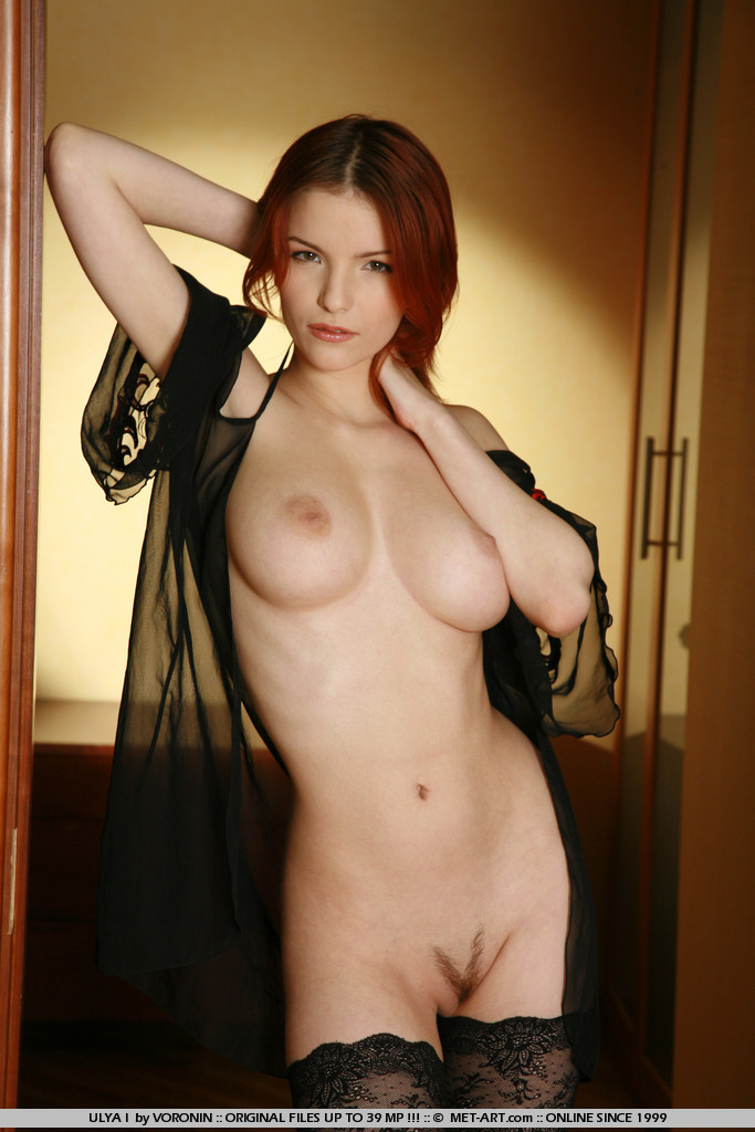 Red haired beauty with deep thoughts and great curves and larger breasts has great shoot.