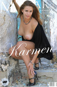 KARMEN, She gets naked in the house she grew up in.