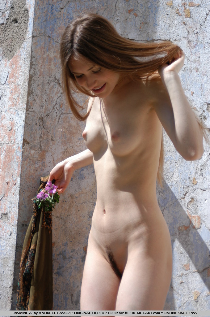 Young model acts out Adam and Eve play.