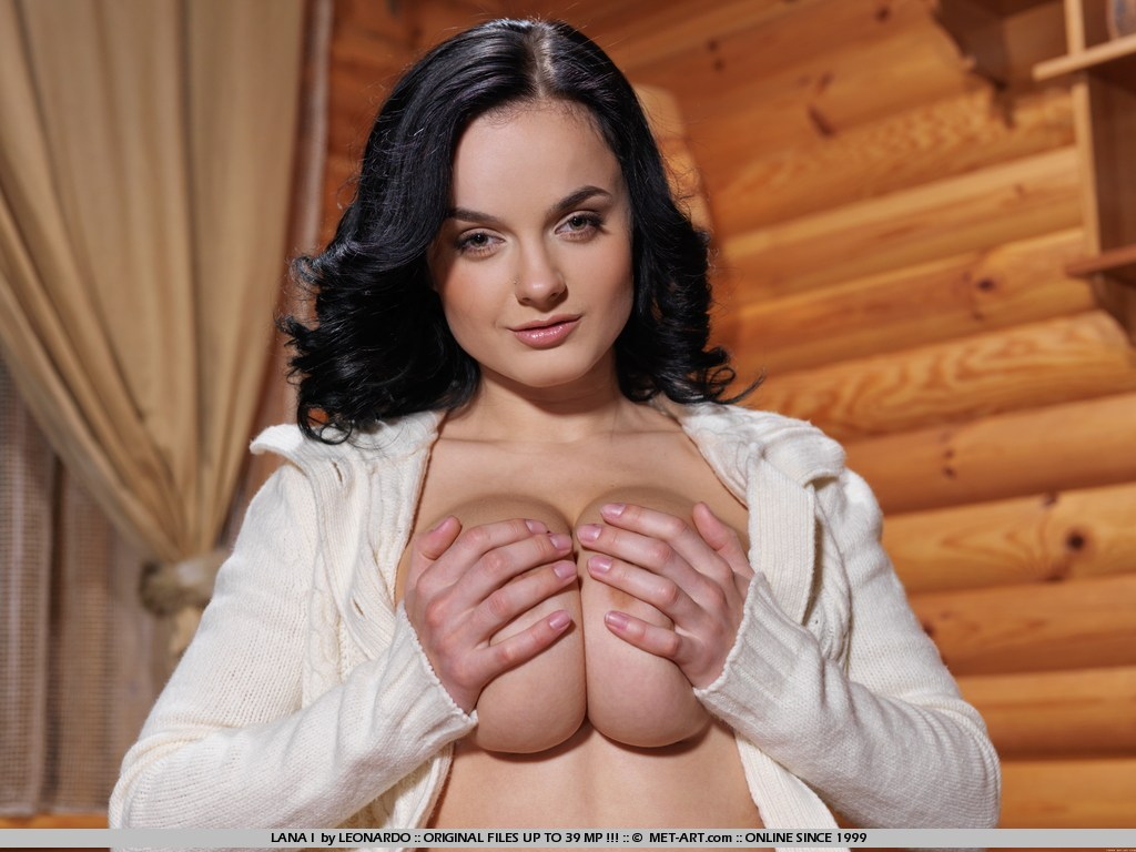 Voluptuous debutante with erotic facial expressions, and large, puffy breasts.