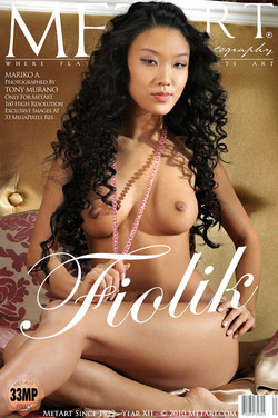 MARIKO, Mariko is a wonderful Asian girl with a smoking hot naked  body with dark sharp nipples.