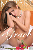GRACE, Darling little model with small breasts and a spanking good ass, she is on the bed and ready.