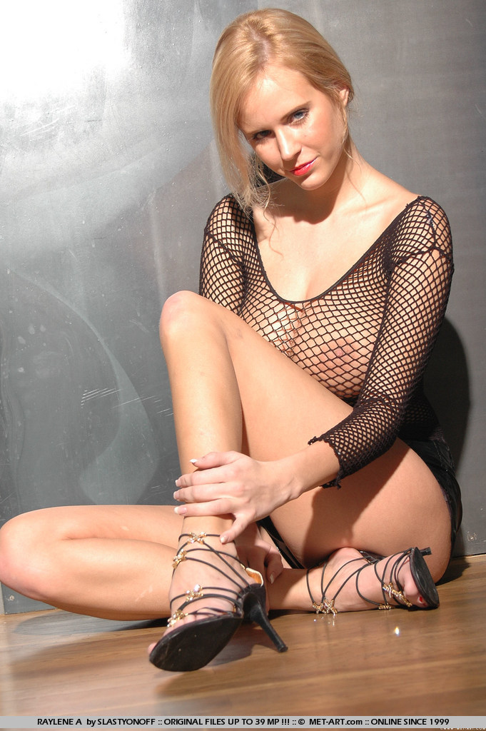 Let me just say this is a good combo, Fishnet and large breasts.