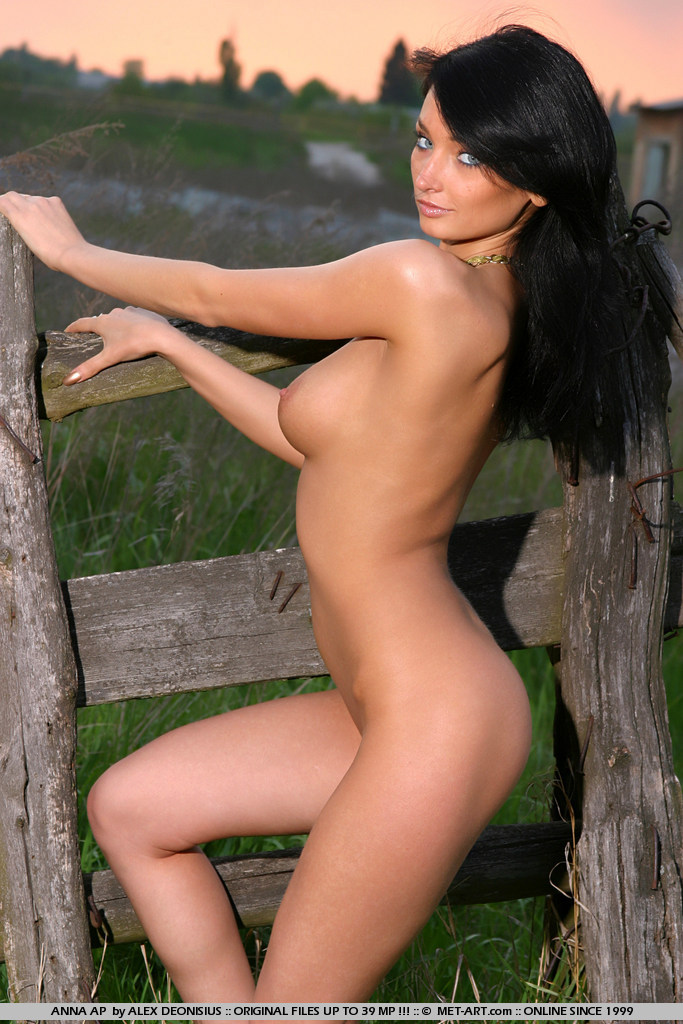 Dark hair and glowing blue eyes will make you stop, and her pert bottom will make your jaw drop.