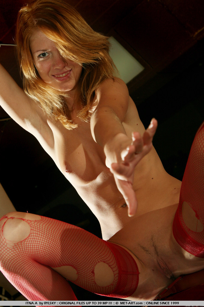 This redhead loves red panties and frilly things, she also loves marshmallows.