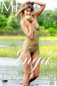 INGA, Getting wet in the wild and getting naked is easy for this  dirty blonde vixen.
