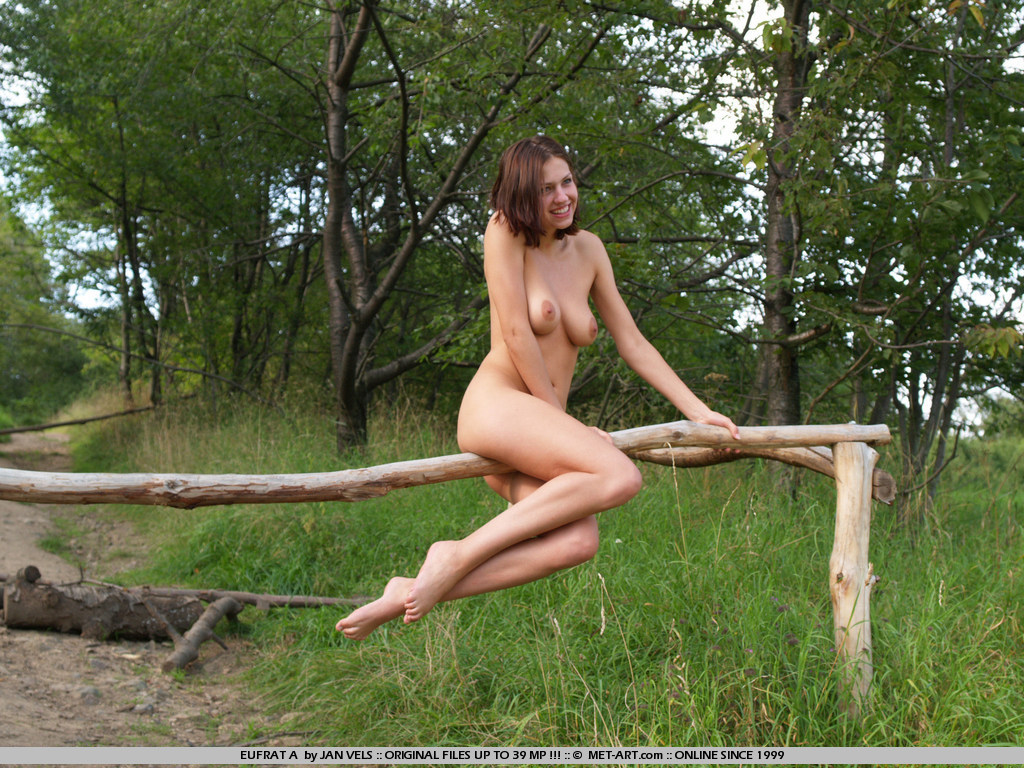 Climbing the trees and playing in the grass is not the only thing this model likes to do.